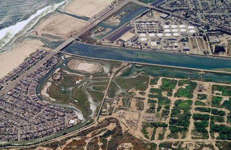 Aerial Banning Ranch River Mouth