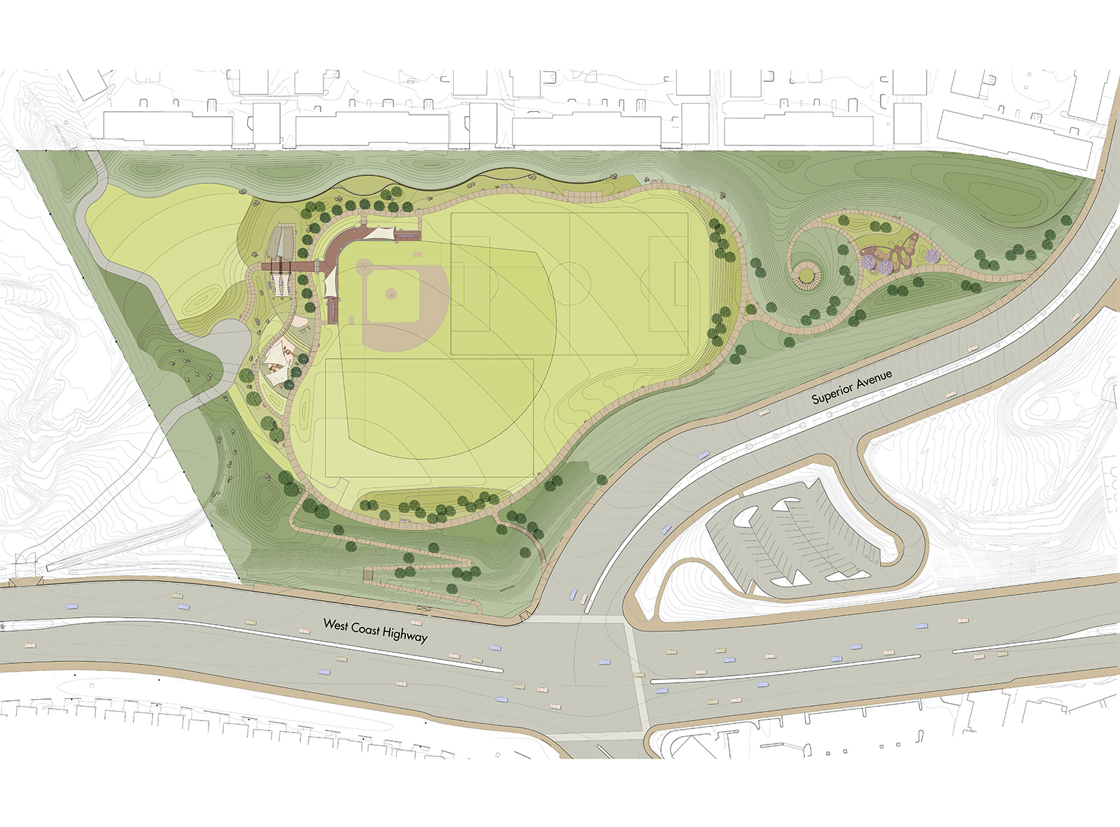 Sunset Ridge Park Project Site Plan